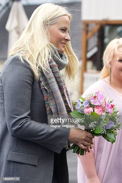 Princess MetteMarit of Norway visits Arbeidsinstituttet a local labour institute that offers courses in a number of subjects for young people at...