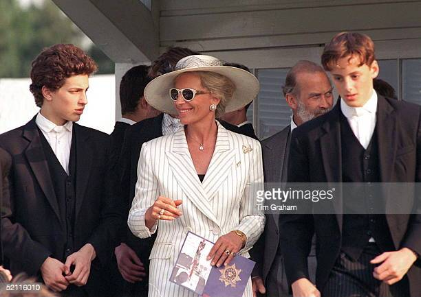 Princess Michael Her Son Lord Frederick Windsor At The Eton Boys Tea Party At Guards Polo Club Smith's Lawn Windsor