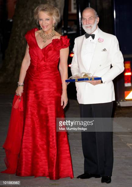 HRH Princess Michael of Kent and HRH Prince Michael of Kent attend King Constantine of Greece's 70th birthday party at Crown Prince Pavlos of...