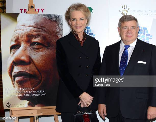 Princess Michael Of Kent and JeanYves Ollivier attend a special screening of 'Plot for Peace' at The Curzon Mayfair on December 9 2013 in London...