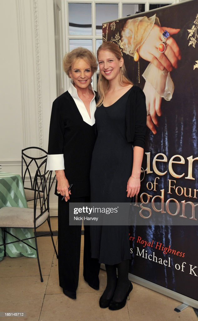 Princess Michael Of Kent and <a gi-track='captionPersonalityLinkClicked' href=/galleries/search?phrase=Lady+Gabriella+Windsor&family=editorial&specificpeople=159476 ng-click='$event.stopPropagation()'>Lady Gabriella Windsor</a> attend the book launch party for 'The Queen Of Four Kingdoms' by <a gi-track='captionPersonalityLinkClicked' href=/galleries/search?phrase=Princess+Michael+of+Kent&family=editorial&specificpeople=160260 ng-click='$event.stopPropagation()'>Princess Michael of Kent</a> at The Orangery on October 17, 2013 in London, England.