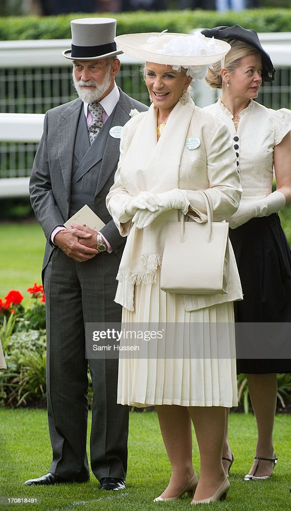 Princess Michael of Kent and Prince Michael of Kent attend day 1 of Royal Ascot at Ascot Racecourse on June 18, 2013 in Ascot, England.
