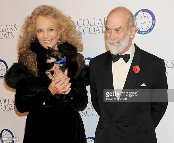 Princess Michael of Kent and Prince Michael of Kent attend the Collars Coats Gala Ball in aid of Battersea Dogs Cats Home at Battersea Evolution on...