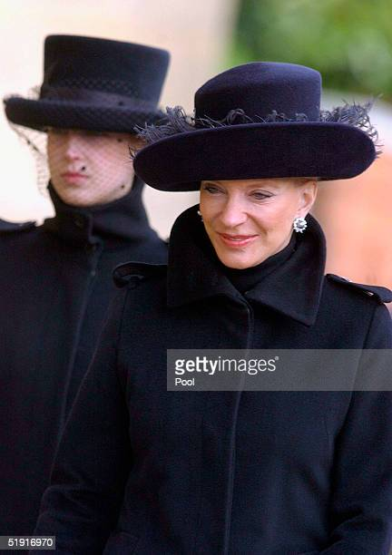 Princess Michael of Kent arrives at the funeral of Sir Angus Ogilvy held in St Georges Chapel of Winmdsor Castle on January 5 2005 in Windsor England...