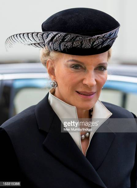 Princess Michael of Kent attends a memorial service for Alistair VaneTempestStewart 9th Marquess of Londonderry at St Paul's Church Knightsbridge on...