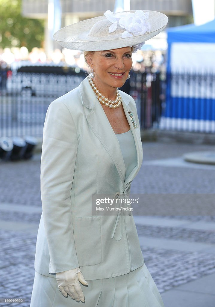 Princess Michael of Kent attends a service of celebration to mark the 60th anniversary of the Coronation of Queen Elizabeth II at Westminster Abbey on June 4, 2013 in London, England. The Queen's Coronation took place on June 2, 1953 after a period of mourning for her father King George VI, following her ascension to the throne on February 6, 1952. The event 60 years ago was the first time a coronation was televised for the public.