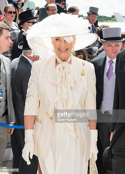 Princess Michael of Kent attends the Epsom Derby at Epsom Racecourse on June 6 2015 in Epsom England