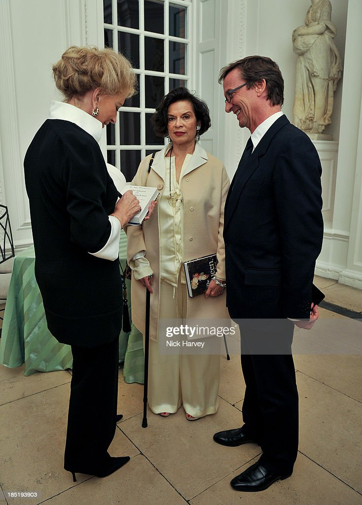 Princess Michael Of Kent, <a gi-track='captionPersonalityLinkClicked' href=/galleries/search?phrase=Bianca+Jagger&family=editorial&specificpeople=216047 ng-click='$event.stopPropagation()'>Bianca Jagger</a> and Thaddaeus Ropac attend the book launch party for 'The Queen Of Four Kingdoms' by <a gi-track='captionPersonalityLinkClicked' href=/galleries/search?phrase=Princess+Michael+of+Kent&family=editorial&specificpeople=160260 ng-click='$event.stopPropagation()'>Princess Michael of Kent</a> at The Orangery on October 17, 2013 in London, England.