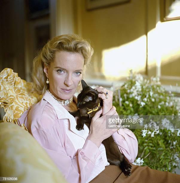 Princess Michael Of Kent born Baroness MarieChristine von Reibnitz holding a cat circa 1985