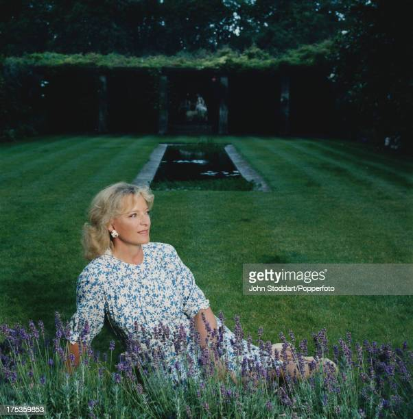 Princess Michael of Kent in a garden in Kent in 2004