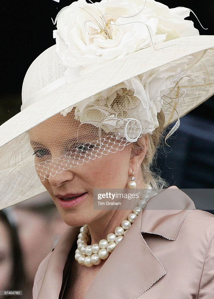 Princess Michael of Kent in veiled hat attends the Thanksgiving Service for the Queen's 80th Birthday at St George's Chapel at Windsor Castle on April 23, 2006 in Windsor, England.