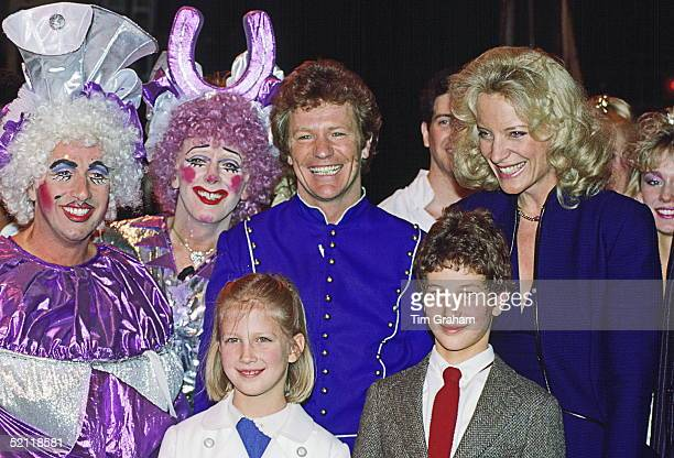 Princess Michael Of Kent With Her Children Lady Gabriella Windsor And Lord Frederick Windsor At The Dominion Theatre To See The Christmas Pantomime...