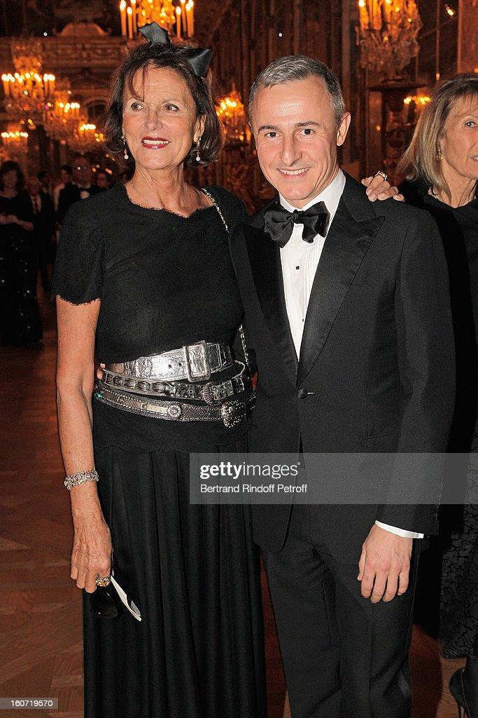Princess Milena of Liechtenstein (L) and Herve Van Der Straeten attend the gala dinner of Professor David Khayat's association 'AVEC', at Chateau de Versailles on February 4, 2013 in Versailles, France.
