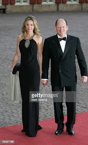 Princess Miriam De Tirnovo and Prince Kardam of Bulgaria arrive at Palace The Loo in Apeldoorn to attend the party marking the 40th birthday of Crown...