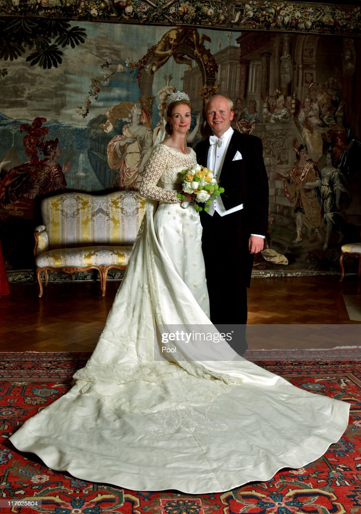Princess Nathalie zu Sayn-Wittgenstein-Berleburg and husband Alexander Johannsmann celebrate their wedding on June 18, 2011 in Bad Berleburg, Germany.
