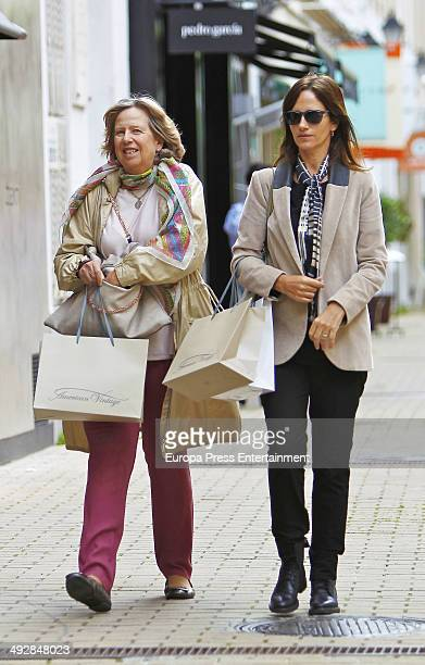 Princess Nora of Liechtenstein and Cecilia Sartorius are seen on May 21 2014 in Madrid Spain