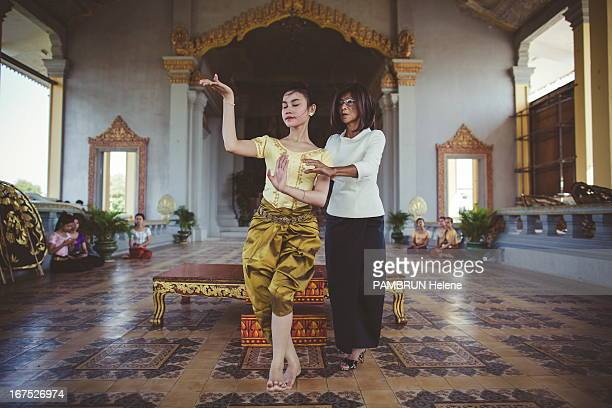 Princess Norodom Buppha Devi at the rehearsals of the Royal Ballet of Cambodia at the Palais Royal on February 26, 2013 in Phnom Penh, Camdodia.