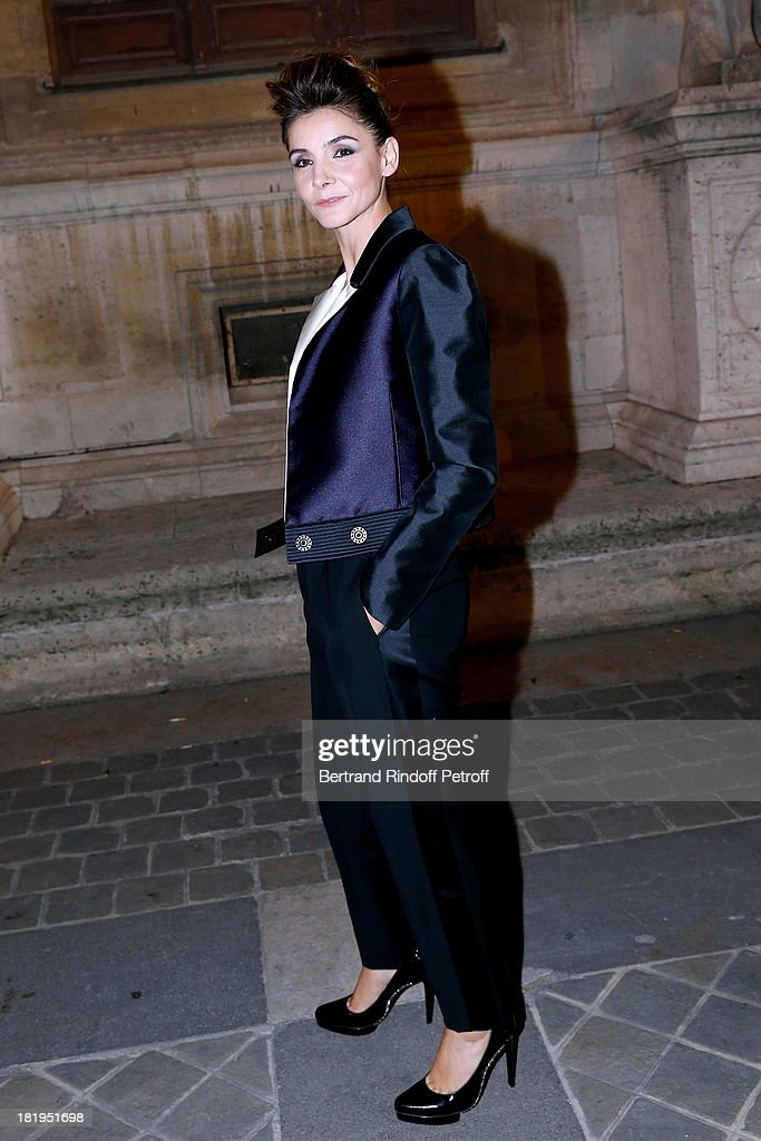 Princess of Savoy, Clotilde Courau arriving at Lanvin show as part of the Paris Fashion Week Womenswear Spring/Summer 2014, held at 'Ecole des beaux Arts' on September 26, 2013 in Paris, France.