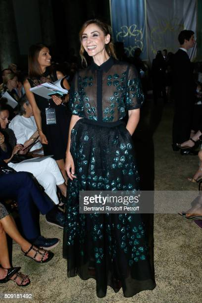 Princess of Savoy Clotilde Courau attends the Elie Saab Haute Couture Fall/Winter 20172018 show as part of Haute Couture Paris Fashion Week on July 5...