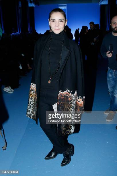 Princess of Savoy Clotilde Courau attends the Haider Ackermann show as part of the Paris Fashion Week Womenswear Fall/Winter 2017/2018 on March 4...