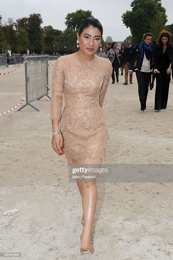 Princess of Thailand Siriwanwaree Nareerat attends the Elie Saab show as part of the Paris Fashion Week Womenswear Spring/Summer 2014 on September 30, 2013 in Paris, France.