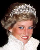 Princess Of Wales In Hong Kong Wearing A Pearl And Diamond Tiara Which Was A Wedding Gift From The Queen