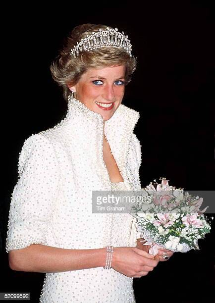 Princess Of Wales In Hong Kong Wearing An Outfit Described As The Elvis Look Designed By Fashion Designer Catherine Walker Tour Dates 710 November