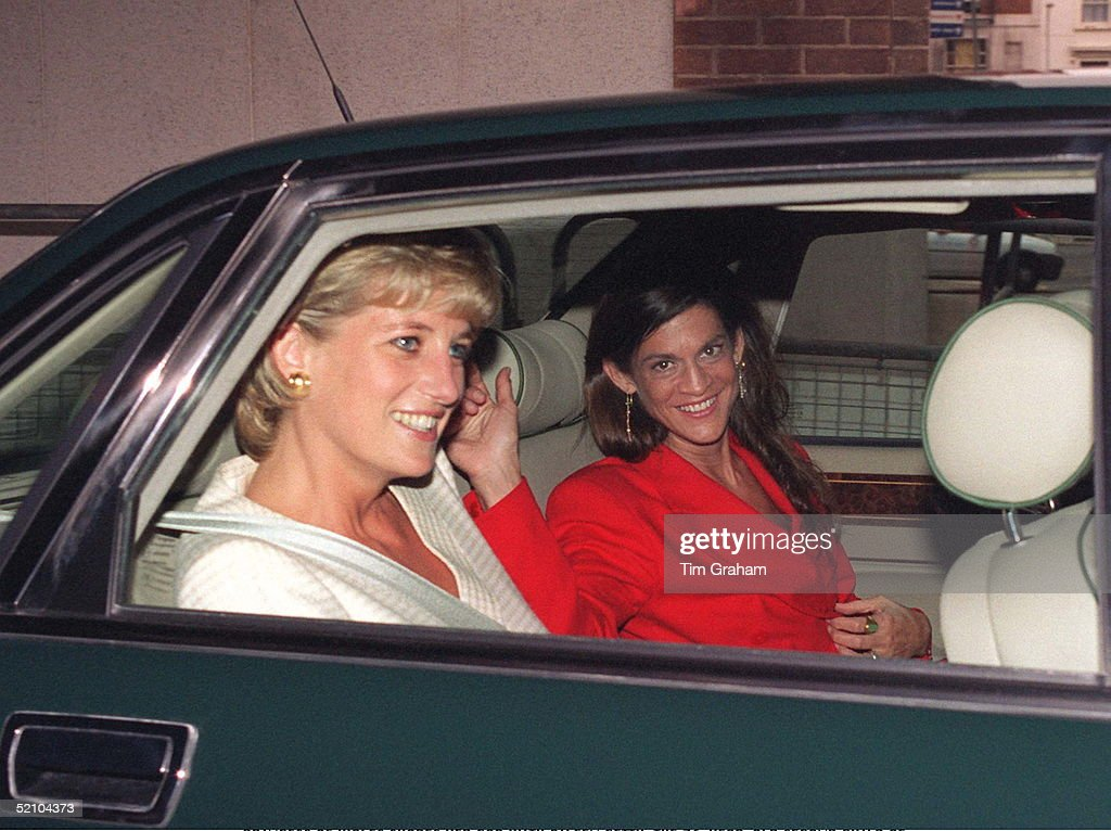 Princess Of Wales Shares Her Car With Aileen Getty The 36yearold Second Child Of Billionaire Art Patron Jpaul Getty Jnr Who Is One Of The World's...