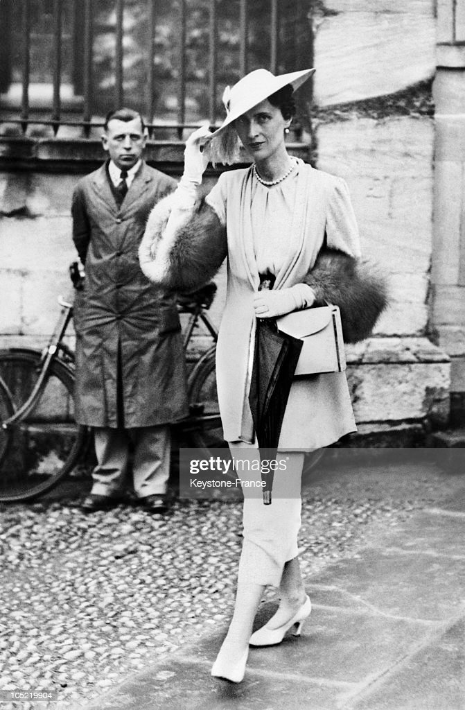 Princess Olga Of Greece On Her Way To Her Husband Prince Paul Of Yugoslavia'S Graduation Ceremony At Oxford University In The United Kingdom, On May 11, 1937.