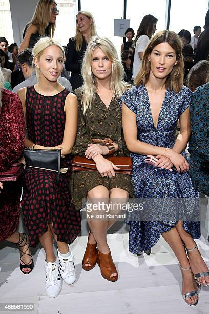 Princess Olympia Alexandra Richards and Hanneli Mustaparta attend the Michael Kors Spring 2016 Runway Show during New York Fashion Week The Shows at...