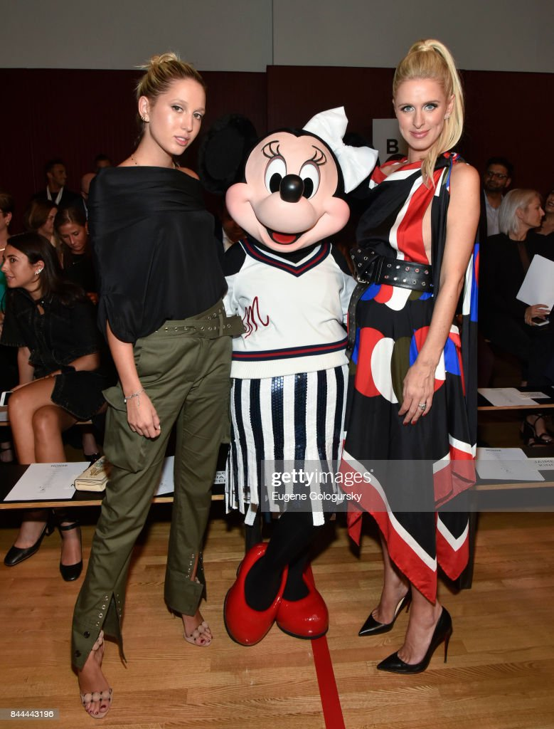 Princess Olympia of Greece and Nicki Hilton attend the Monse fashion show during New York Fashion Week: The Shows on September 8, 2017 in New York City.