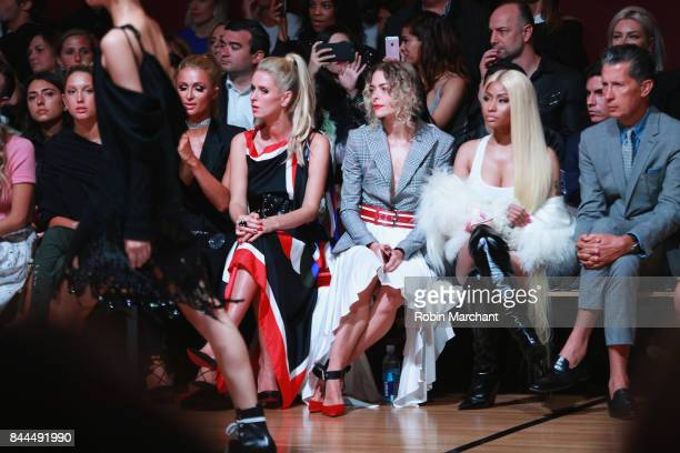 Princess Olympia of Greece Paris HiltonNicky Hilton Rothschild Jaime King Nicki Minaj and Stefano Tonchi attend the Monse fashion show during New...