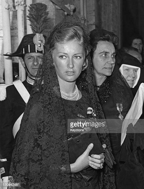 Princess Paola of Belgium accompanied by a ladyinwaiting attends the 'Novendiale' in memory of Pope John XXIII at St Peter's Basilica Vatican City...
