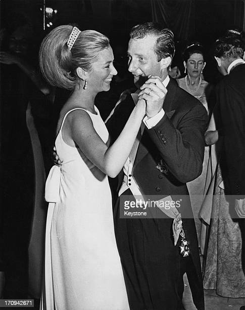 Princess Paola of Belgium and Prince Alfred of Belgium dancing during the Waterloo Ball Brussels 17th June 1965