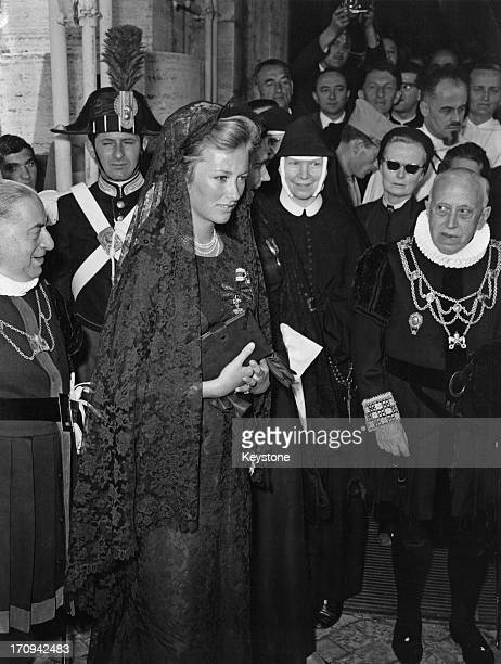 Princess Paola of Belgium attends the 'Novendiale' in memory of Pope John XXIII at St Peter's Basilica Vatican City Rome 17th June 1963