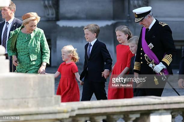 Princess Paola of Belgium Princess Eleonore of Belgium Prince Gabriel of BelgiumPrincess Elisabeth of Belgium Prince Emmanuel of Belgium and King...