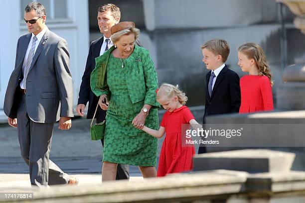 Princess Paola of Belgium Princess Eleonore of Belgium Prince Gabriel of Belgium and Princess Elisabeth of Belgium attend the Civil and Military...