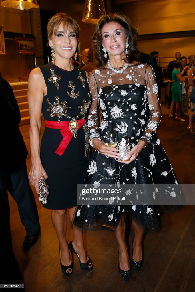 Princess Patricia d'Arenberg and Myriam Laffon attend the 'Societe ses Amis du Musee d'Orsay' : Dinner Party at Musee d'Orsay on June 19, 2017 in Paris, France.