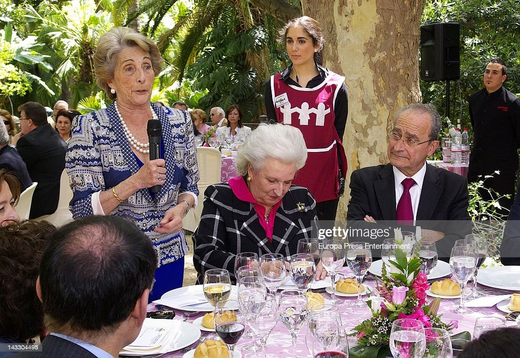 Princess Pilar (2R) attends 'Nuevo Futuro' Association 40th anniversary at Concepcion plot of land on April 20, 2012 in Malaga, Spain.