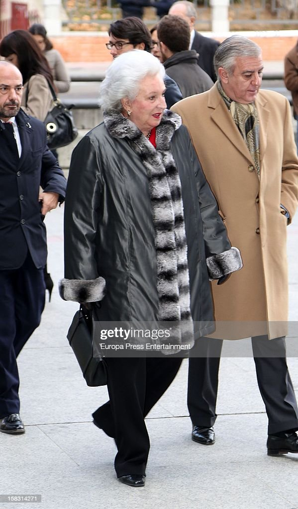 Princess Pilar de Borbon attends Spanish Olympic Commitee Centenary Gala at El Canal Theatre on December 12, 2012 in Madrid, Spain.