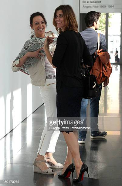 Princess Rosario Nadal of Bulgaria visits art exhibition at Contemporary Art Museum MACBA on October 24 2011 in Barcelona Spain