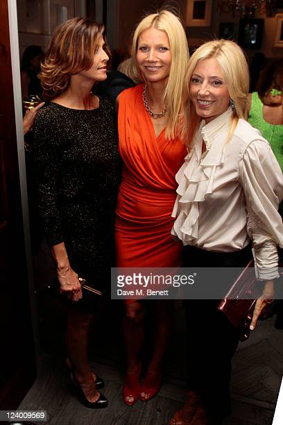 Princess Rosario of Bulgaria Gwyneth Paltrow and Princess MarieChantal of Greece attend a dinner hosted by Coach in honour of Gwyneth Paltrow at The...