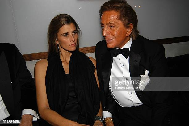 Princess Rosario SaxeCoburgGotha of Bulgaria and Valentino Garavani attend Valentino Afterparty at The Double Seven on October 27 2005 in New York...
