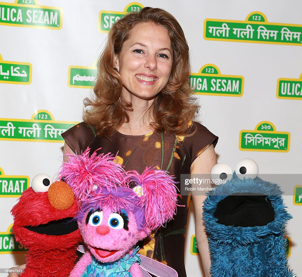 Princess Sarah Zeid with Elmo, Abby and Cookie Monster at the 11th Annual Sesame Street Workshop Benefit Gala at Cipriani 42nd Street on May 29, 2013 in New York City.