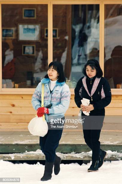 Princess Sayako enjoys bird watching on February 26 1994 in Furano Hokkaido Japan