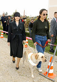Princess Sayako inspects a guide dog training facility on October 15 2002 in Zagreb Croatia