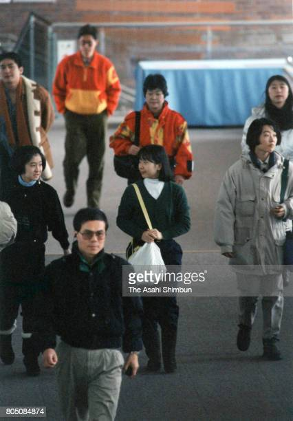 Princess Sayako is seen at a hotel on February 26 1994 in Furano Hokkaido Japan