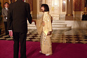 Princess Sayako is seen on arrival at a reception at the Akasaka State Guest House on March 27 2001 in Tokyo Japan