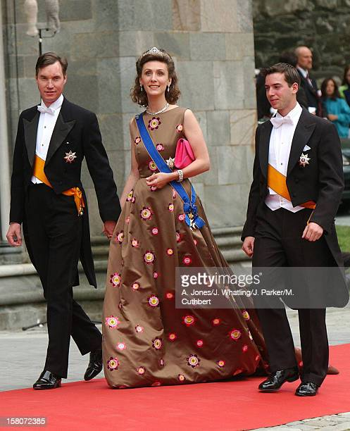 Princess Sibylla And Prince Guillaime Of Luxembourg At The Wedding Of Princess Martha Louise Of Norway And Ari Behn In Trondheim