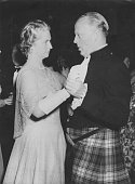 Princess Sibylla of Sweden enjoys a dance at the Hurlingham Club London with Lord Sempill Chairman of the AngloSwedish Society 28th June 1950
